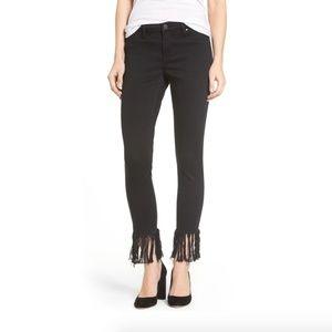Blank NYC black fray hem denim jeans